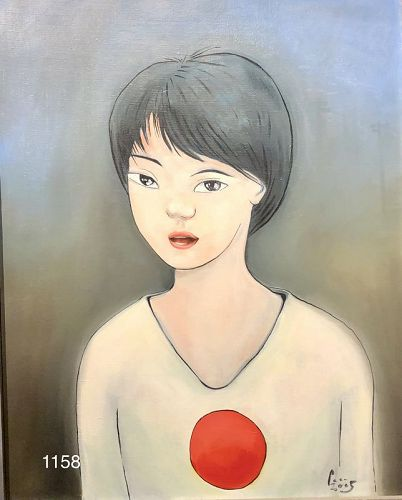 American Master Artist Paco Lane,Portrait of Artist�s Wife Oil 30x24�