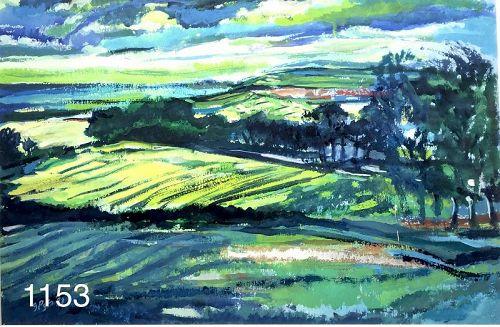 Glenn PIZER Landscape Gouache 15x22�