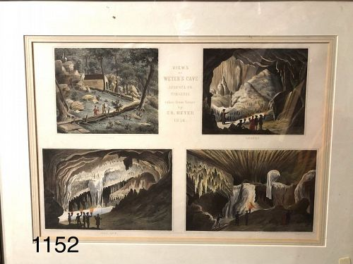 1856 Lithograph �Views of Wyer�s Cave 15x20�
