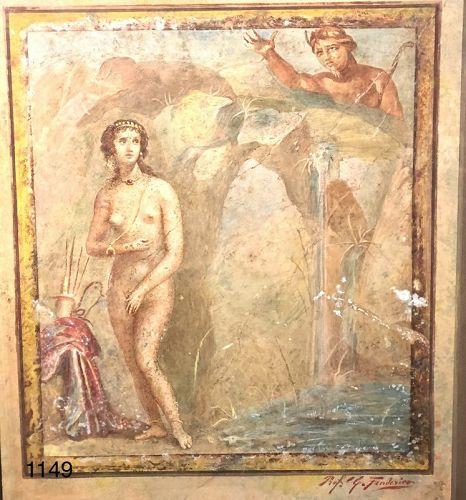 Professor G. FREDERICO Watercolor � Pompeii� 16x14�
