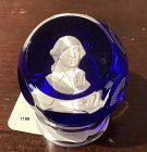 English Wedgwood paperweight of George Washington