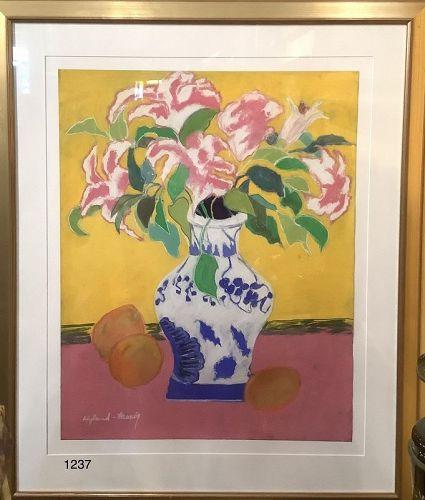 American Master Artist Kathleen Hyland Nesvig �Floral Study� 38x32�