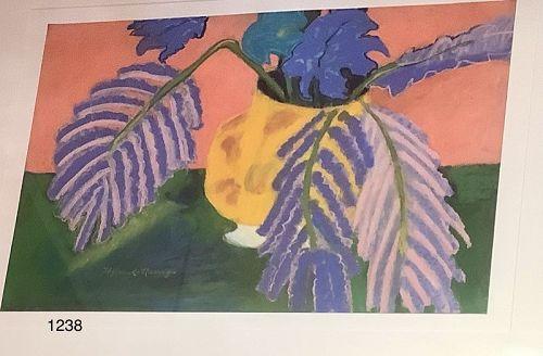 Kathleen Hyland Nesvig Floral Pastel on paper 20x24�
