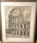 Italian Etching of the Colosseum 36 x 22�