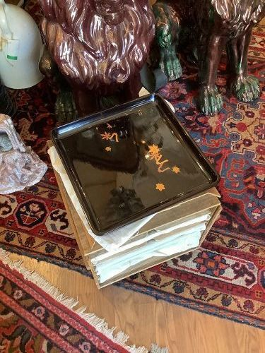 Set a five Japanese Wajima  Lacquerware trays