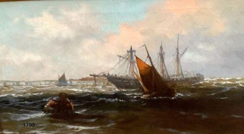 G. Sutcliffe English Marine Painter, oil on canvas  32x42