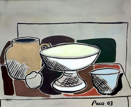 Master Artist Pace LANE Still Life with Bowls 25x29�
