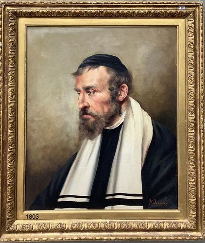 Portrait of a Rabbi oil on canvas 20th century 30x26�