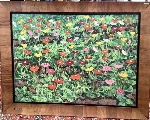 Large Floral Master Work by American Artist Anne Lane 36x48�