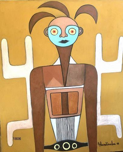 Ephrem Kouakou American artist from Ivory Coast Oil 50x40�