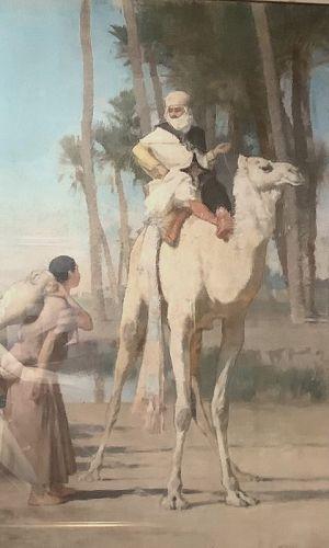 Gustavo A. Guillamet French Master Artist Orientalist 50 x 39� oil