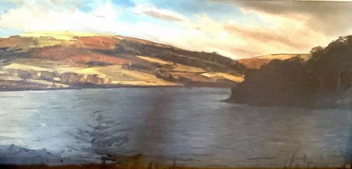 American Artist John COURT Azores Landscape Oil 18�x30�