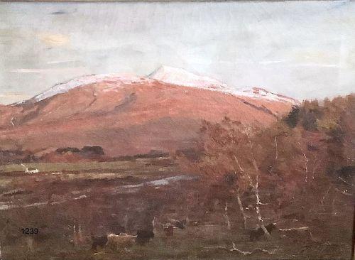 Thomas Hunt Scottish Highland Mountainscape Nineteenth Century 33x36�