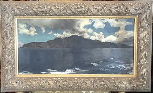 John Court,American Artist,relative of Whistler. Azorean Coast 18x30�