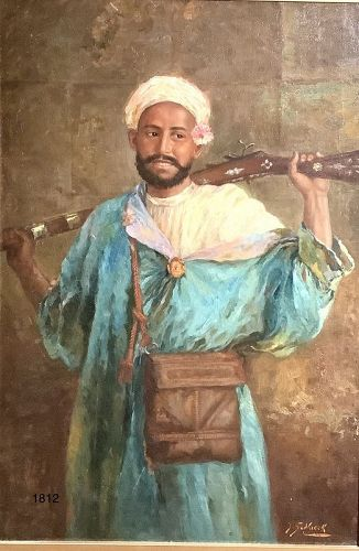 J. SEDLACEK,Austrian Master,� North African Tribesman, Oil 22x32�