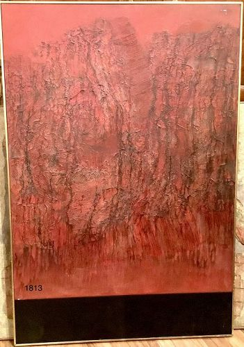 Mid Century Abstract Expressionist Oil Masterwork57x37�