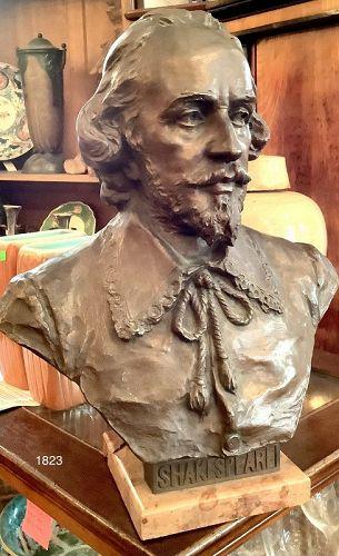 Hans Müller,Austrian 1873-1937 Bust of Shakespeare 17�