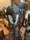 Pair of nineteenth Century Electrified Wrought Iron Lantern Lamps 50�