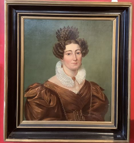 Portrait of an aristocratic Woman French, school of David 31x27�