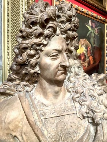 French Terra-cotta bust of King Louis XIV  Important Provenance