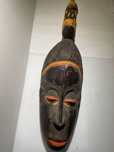 African Black Guro Mask 1970