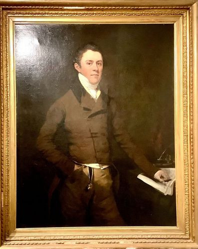 Thomas Hastings Portrait of Beau Brummell circa 1815 oil  58x37