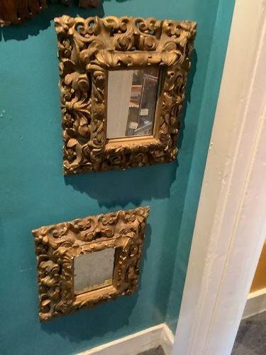 Italian eighteenth Century pair of Gilded mirrors finally carved 15x14