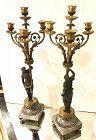 Pair of candelabras Louis XVI Style 23.5 x 8.5�