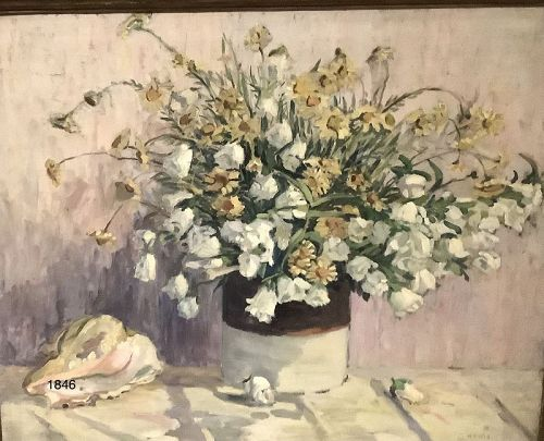 Floral Still Life Oil on canvas