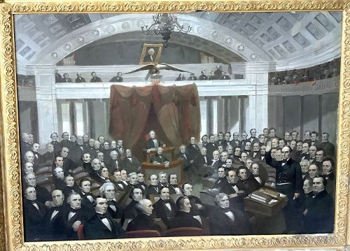 Compromise Measure of 1850 artist E. M. Brown,Jr 1816-1886 28x39�