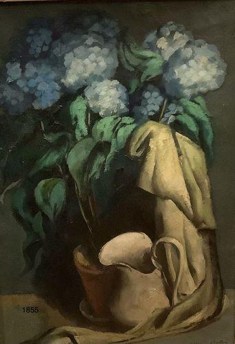 Jean de Button1898-1978 Still Life with Hydrangeas Oil 34x25�