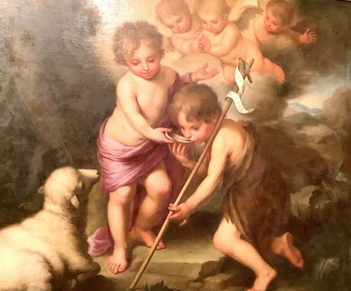 Infants Jesus and Saint John The Baptist 18th c. after Murillo