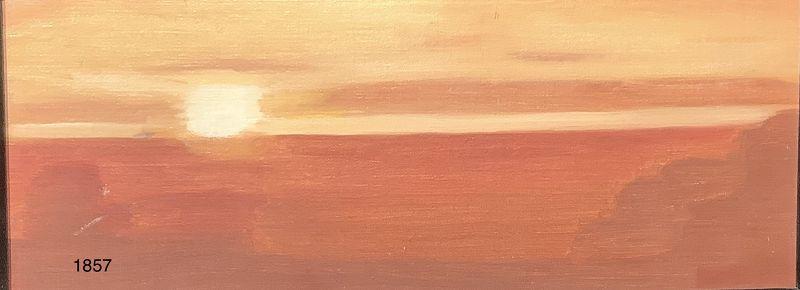 "Janice McBride ""Sunset over Newport RI Oil 6x12"""