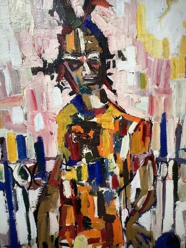 Washington Artist C.Young Abstract oil 40x26�