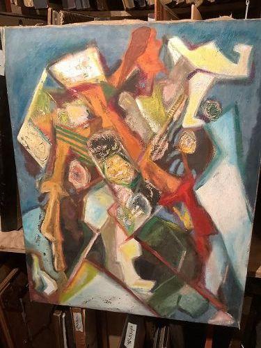 Max Kassler, abstract Heads oil 28x22�