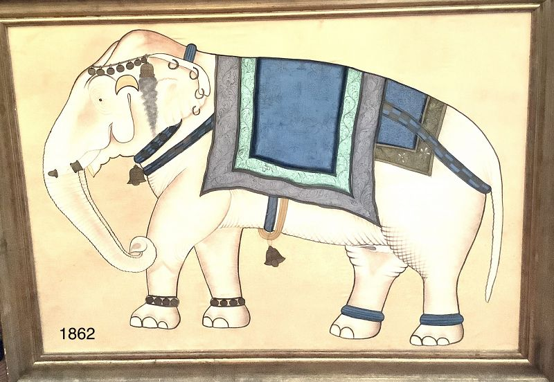 Painting on silk Painting Indian Elephant 1940s