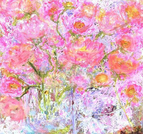 Robin Sutliff local artist Abstract 30x30�