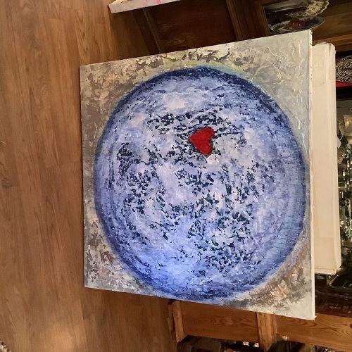 "Robin Sutliff local artist abstract 36x36"""
