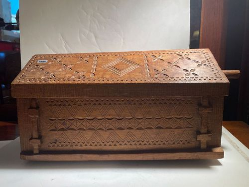 African Hand Carved Container