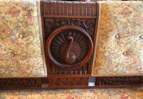 Important Aesthetic Movement Settee Original William & Morris Fabric