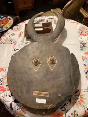 African Baule Large Mask with Horns