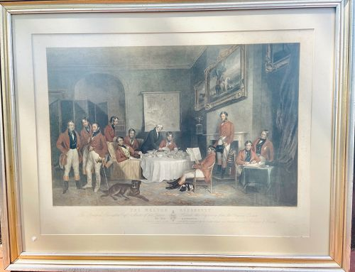 """The Melton Breakfast lithograph 18x22"""""""
