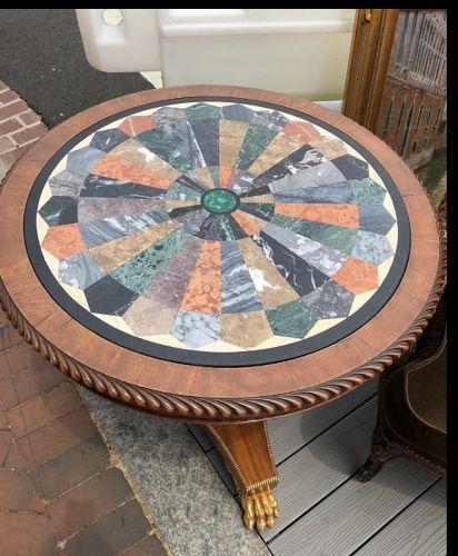 English Regency Collectors Marble specimen table