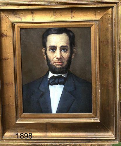 Fine arresting portrait of Abraham Lincoln circa 1959 oil