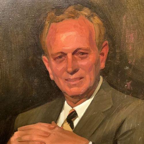 """Cubist Portrait by John Court Oil on Canvas 30x24"""""""