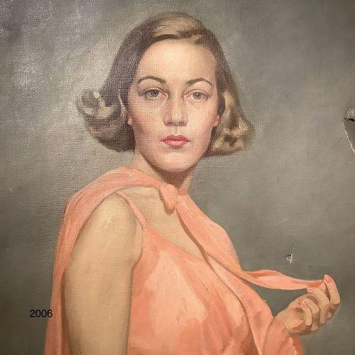 """Artist Bradford Lambert,Portrait of Jenifer 40x30"""""""