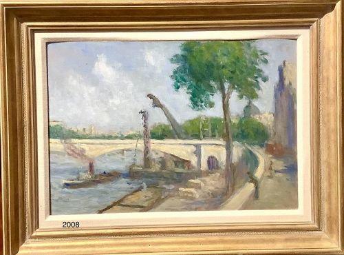 "Maximilian Luce Impressionist Artist  Paris oil on canvas14.5x19.5"""