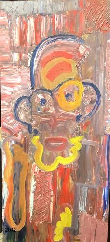 """Nathan Motley Master Oil on panel """"Doctor"""" 31""""x13"""""""