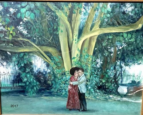 "Mario Russo 1925-2000, Roman Artists Master Oil 16x20"""