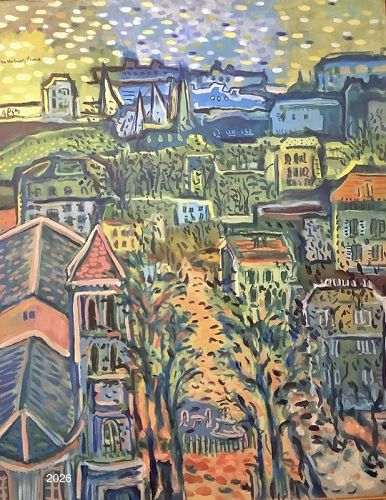 "American Master Artist Glenn PIZER ""On The Coast,France"" 30x24"""